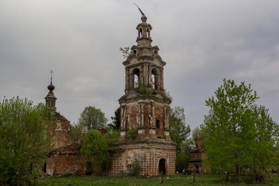 большое село пронский район церковь