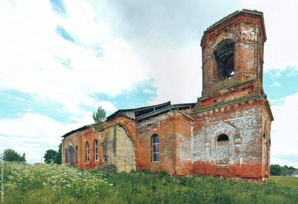 Окуньково, рыбновский район. Церковь Димитрия Солунского