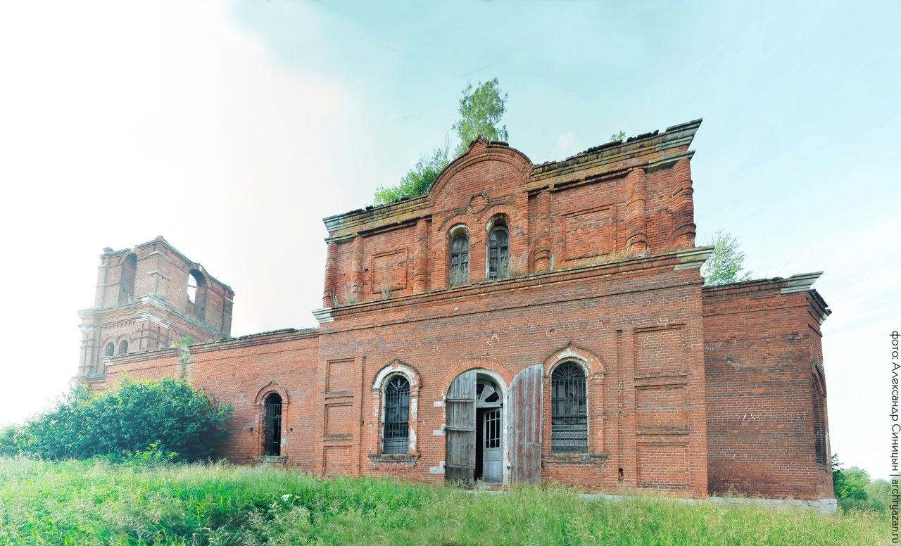 Заброшенная церковь Рязанская область Токарево