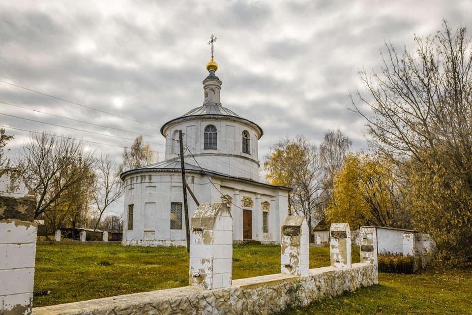 Покровский храм с. Большая Алешня Ряжского района Рязанской области.